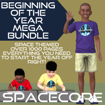Space Theme Mega Bundle | Beginning of the Year Classroom Decor {EDITABLE}
