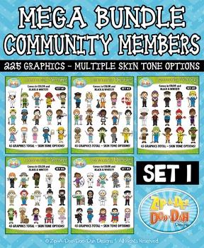 Community Members Mega Bundle Clipart Set 1 {Zip-A-Dee-Doo-Dah Designs}