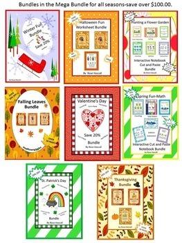 Mega Bundle Math Literacy Pre-K, K, Special Ed Early Childhood Fine Motor