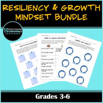 """Mega Bundle 16 """"Growth Mindset & Resiliency"""" Clasroom Worksheets for grades 3-6"""