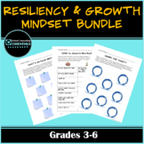 "Mega Bundle 16 ""Growth Mindset & Resiliency"" Clasroom Worksheets for grades 3-6"