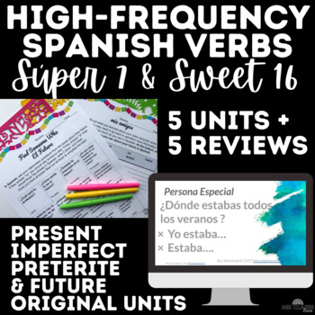 Mega Bundle - High Frequency Verbs Units - present, past & future