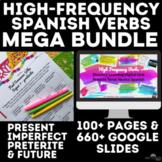Spanish High Frequency Verbs Mega Bundle present, past & f