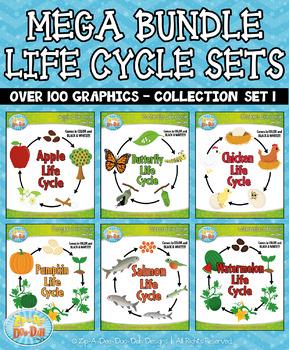 Mega Bundle Life Cycle Collection Set 1 — Over 100 Graphics!