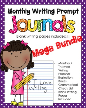 Mega Bundle NO PREP Journal Prompts - ALL YEAR