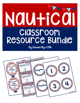 Bundle of Nautical-Themed Classroom Resources