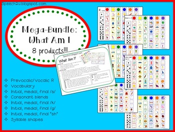 Mega Bundle: What Am I: Articulation and Vocabulary
