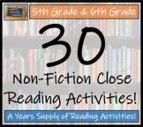 Mega Bundle of 30 Informational Text Activities