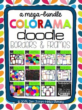 Mega Bundle of Colorama Doodle Borders & Frames: For Personal & Commercial Use