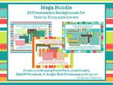 Mega Bundle of Presentation Backgrounds for Dots on Turquo