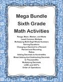 Mega Bundle of Sixth Grade Math Activities