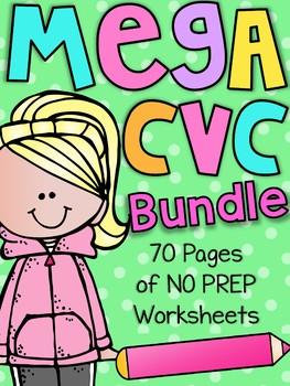 Mega CVC Worksheet Pack