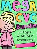 Mega CVC Worksheet Pack - Pre-K Kindergarten