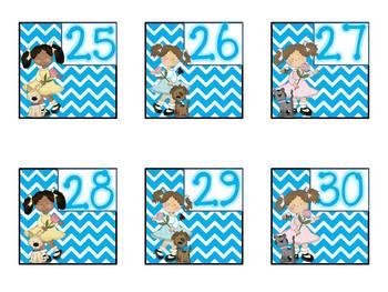 Chevron Mega Calendar Pack ~ All calendar pieces, charts, posters +