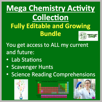 Mega Chemistry Activity Collection - Fully Editable and Growing Bundle