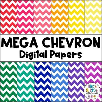 Mega Chevron Digital Paper Pack