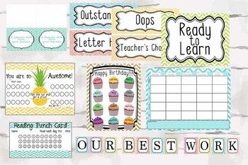 Mega Chevron Glitter Classroom Decor, Teaching Decor, Classroom decor