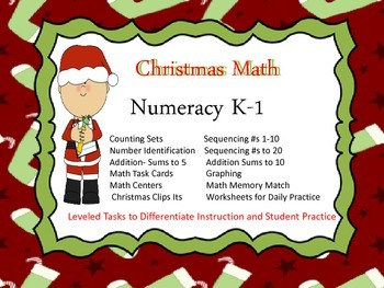 Mega Christmas Math Unit (K-1)