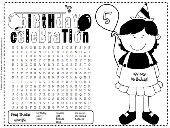 Mega Classroom Birthday Pack