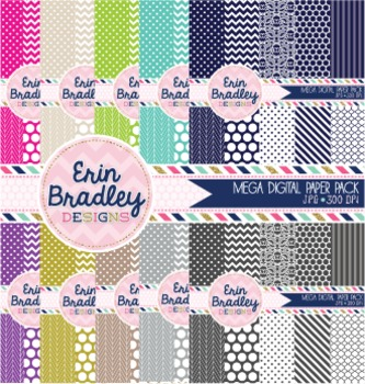 Mega Digital Papers Bundle - New Seller Graphics Package