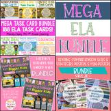 Mega ELA Bundle | Task Cards | Reading Stations | Reading Comprehension Posters