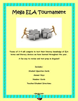 Mega ELA Tournament - A Review Game and Test Prep in Disguise!