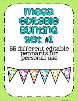 Mega Editable Bunting Set #1