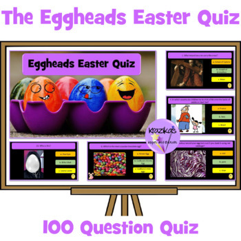 Eggheads Easter Quiz - Bumper 100 Question Interactive PowerPoint Quiz
