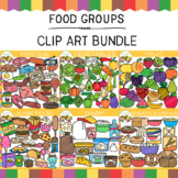 Mega Food Groups Clip Art GROWING Bundle