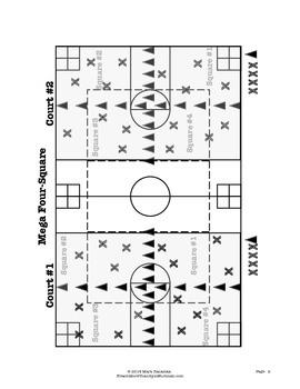 Mega Four Square - Large Group PE Activity