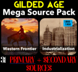 Mega Gilded Age Source Pack - 31 Primary + Secondary Sources