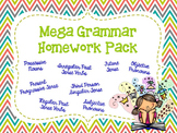 Mega Grammar Homework Pack