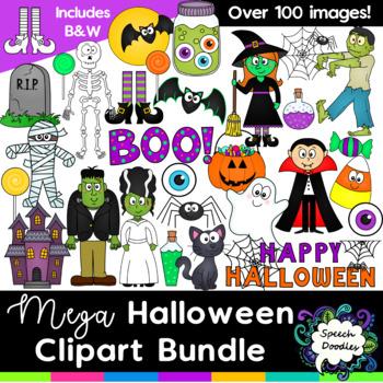 Mega Halloween Clipart Bundle - Over 100 images!