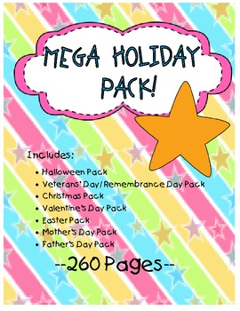 Mega Holiday Pack- ALL THE HOLIDAYS IN ONE PLACE!