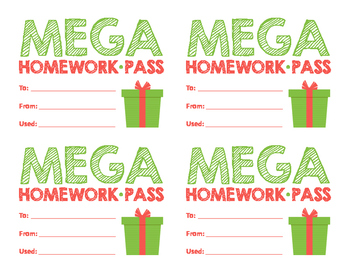 Mega Homework Pass (Holiday)
