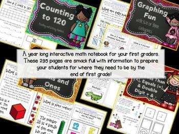 Mega Interactive Math Notebook for First Grade CCSS
