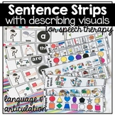 Mega Sentence Strips Visuals for Speech Therapy: Language