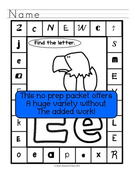 Mega Letter of the Week Bundle! - No Prep, Print and Go Bundles, Letters A - M