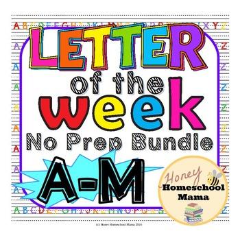 Mega Letter of the Week Bundle! - No Prep, Print and Go Bu