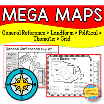 Maps -- Informational Texts, Types of Maps, Foldables, and More!