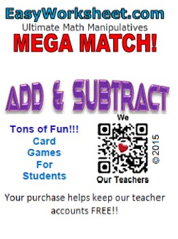 Mega Match - Add and Subtract to 10