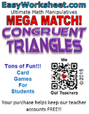 Mega Match - Congruent Triangles