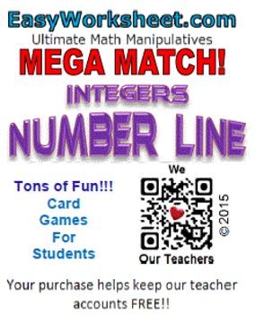 Mega Match - Integers - Number Line