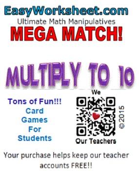 Mega Match - Multiply to 10