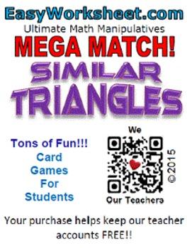 Mega Match - Similar Triangles