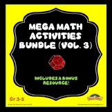 Mega Math Activities Bundle (Vol.3)