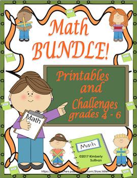 Math Bundle 20 Challenges 50 Printables