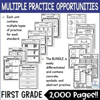 Morning Work First Grade Math Mega Practice 1.OA Bundle