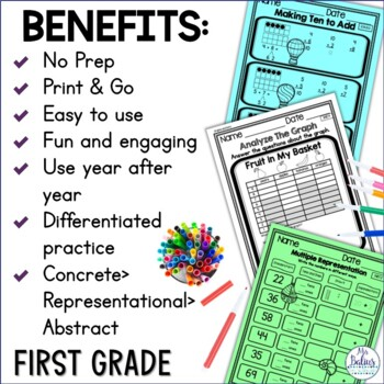 Numbers First Grade Math Counting and Number Lines Mega Practice 1.NBT.1