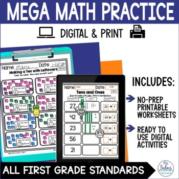 Number Sense Counting Patterns and Number Lines Mega Practice 1.NBT.1